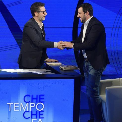 Fabio Fazio e Matteo Salvini